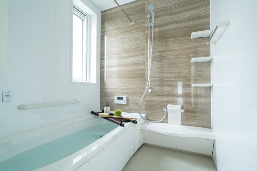 広く使える洗面台の写真