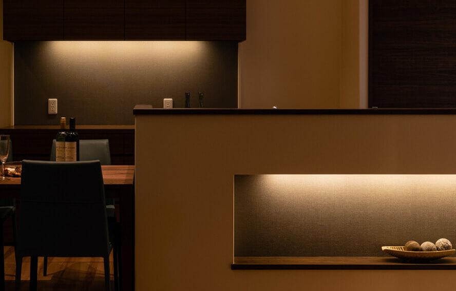 照明デザイナーと職人が織りなす照明計画