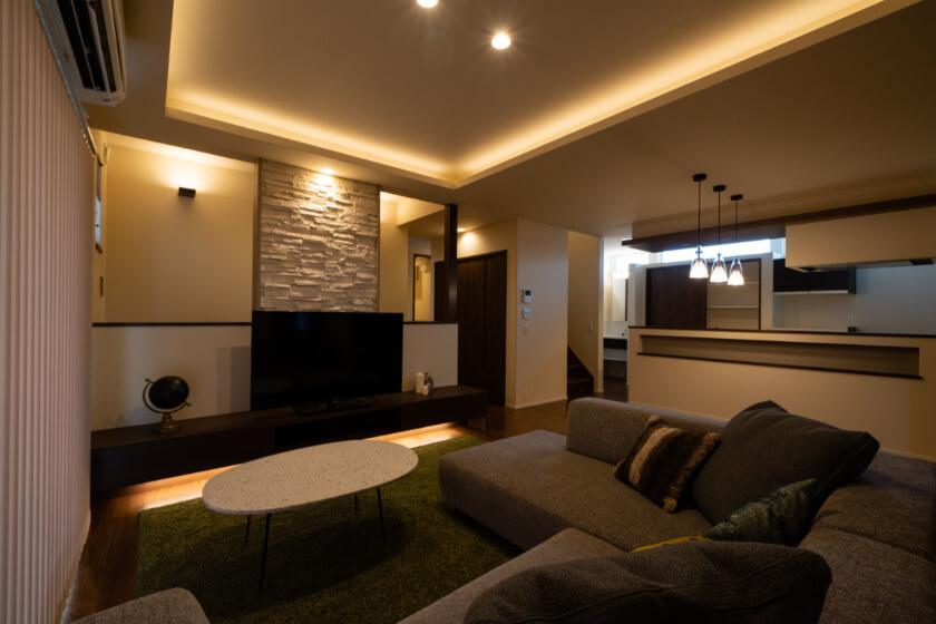 優雅な空気感を演出する建築化照明